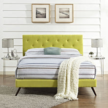Modway Furniture Modern Terisa Full Fabric Platform Bed with Round Splayed Legs-Minimal & Modern
