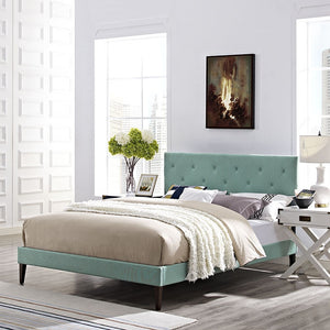 Modway Furniture Modern Terisa King Fabric Platform Bed with Squared Tapered Legs-Minimal & Modern