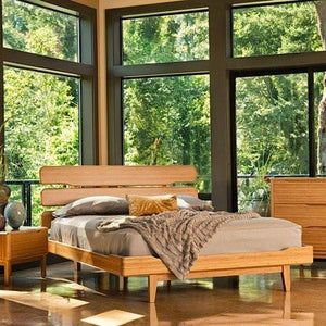 3pc Greenington Currant Modern California King Platform Bedroom Set (Includes: 1 California King Bed & 2 Nightstands) Beds - bamboomod