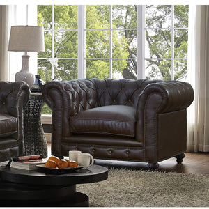 TOV Furniture Modern Durango Antique Brown Leather Club Chair TOV-C54-Minimal & Modern