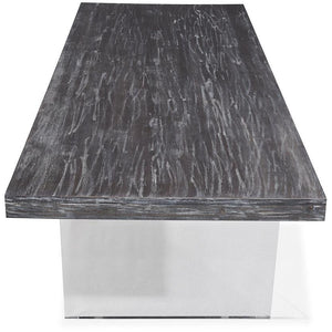 TOV Furniture Modern Berlin Pine and Lucite Table TOV-G5452-TOP-Minimal & Modern