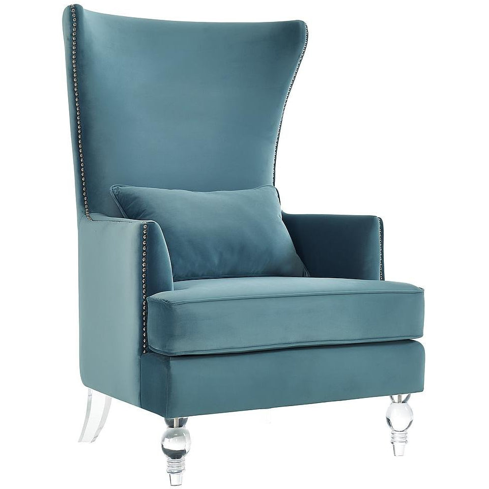 TOV Furniture Modern Bristol Sea Blue Tall Chair TOV-A139-Minimal & Modern