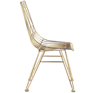 TOV Furniture Modern Allure Gold Chair-Set of 2 TOV-G7212-Minimal & Modern