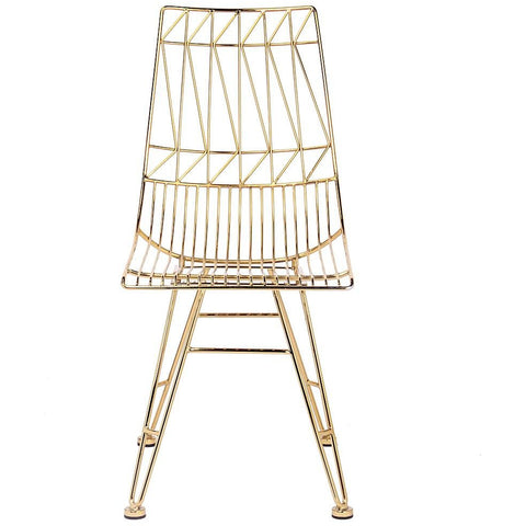 TOV Furniture Modern Allure Gold Chair-Set of 2 TOV-G7212