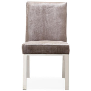 TOV Furniture Modern Aria Grey Velvet Side Chair TOV-D3735-Minimal & Modern