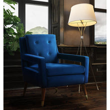TOV Furniture Modern Draper Navy Velvet Chair TOV-A159-Minimal & Modern