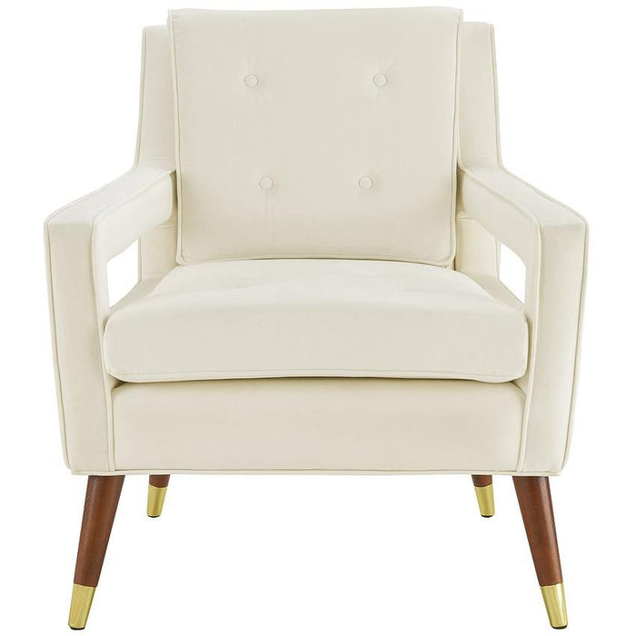 TOV Furniture Modern Draper Cream Velvet Chair TOV-A151-Minimal & Modern