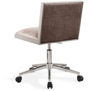TOV Furniture Modern Harper Silver Velvet Office Chair TOV-H3715-Minimal & Modern