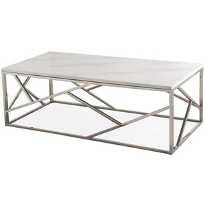 TOV Furniture Modern Gayle Silver Coffee Table TOV-OC3745-Minimal & Modern