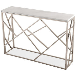 TOV Furniture Modern Gayle Silver Console Table TOV-OC3744-Minimal & Modern