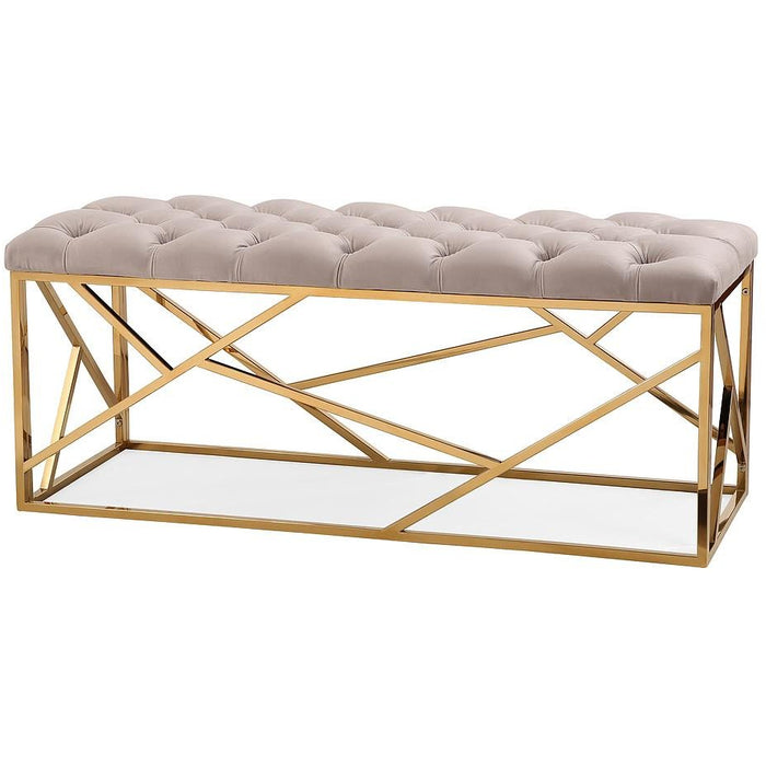 TOV Furniture Modern Skylar Grey Long Bench TOV-OC3706-Minimal & Modern