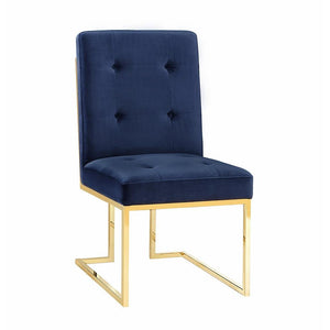 TOV Furniture Modern Akiko Navy Velvet Chair (Set of 2) TOV-D2051-Minimal & Modern