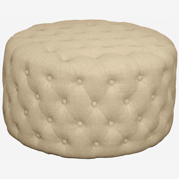 Lulu Round Fabric Tufted Ottoman by New Pacific Direct - 353616(S14)