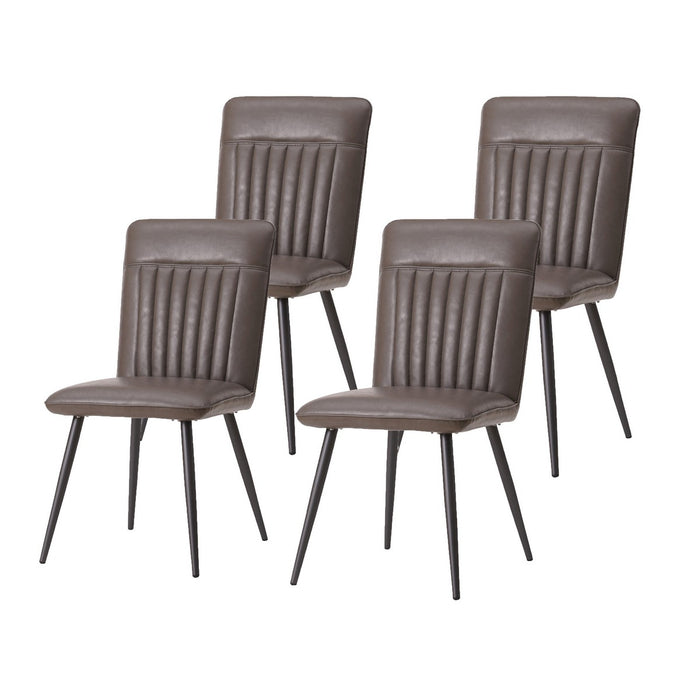 Baxter PU Leather Chair (Set of 4) by New Pacific Direct - 3400035