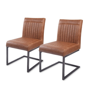 Ronan PU Leather Dining Chair (Set of 2) by New Pacific Direct - 1060002