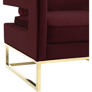 TOV Furniture Modern Avery Maroon Velvet Chair TOV-A110-Minimal & Modern