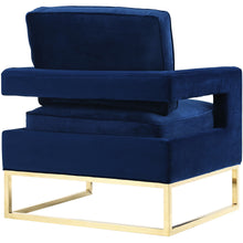 TOV Furniture Modern Avery Navy Velvet Chair-Minimal & Modern