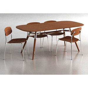 Greenington Montreal Dining Set Includes 1 Table & 4 Chairs-Minimal & Modern