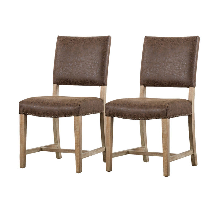 Arthur PU Leather Chair (Set of 2) by New Pacific Direct - 3900033