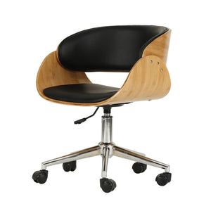 Lexie PU Leather Bamboo Swivel Office Chair by New Pacific Direct - 1160009