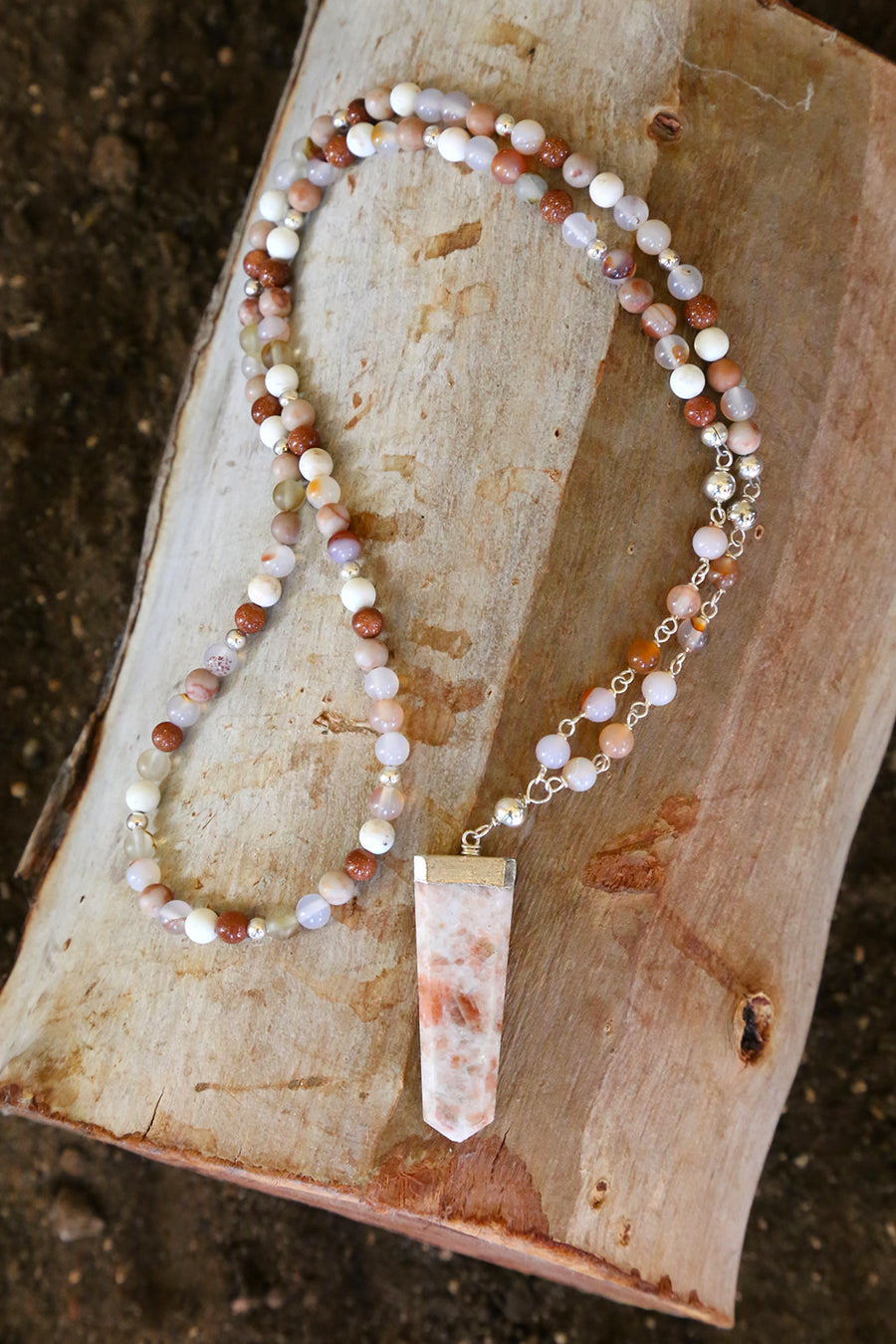 HANDMADE - Sunstone Goddess Necklace