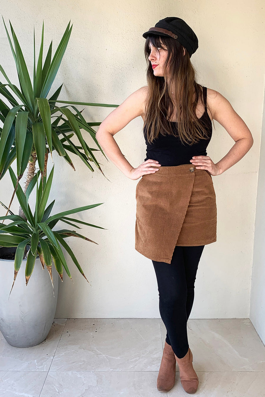 PRELOVED - Brown Sugar Corduroy Skirt