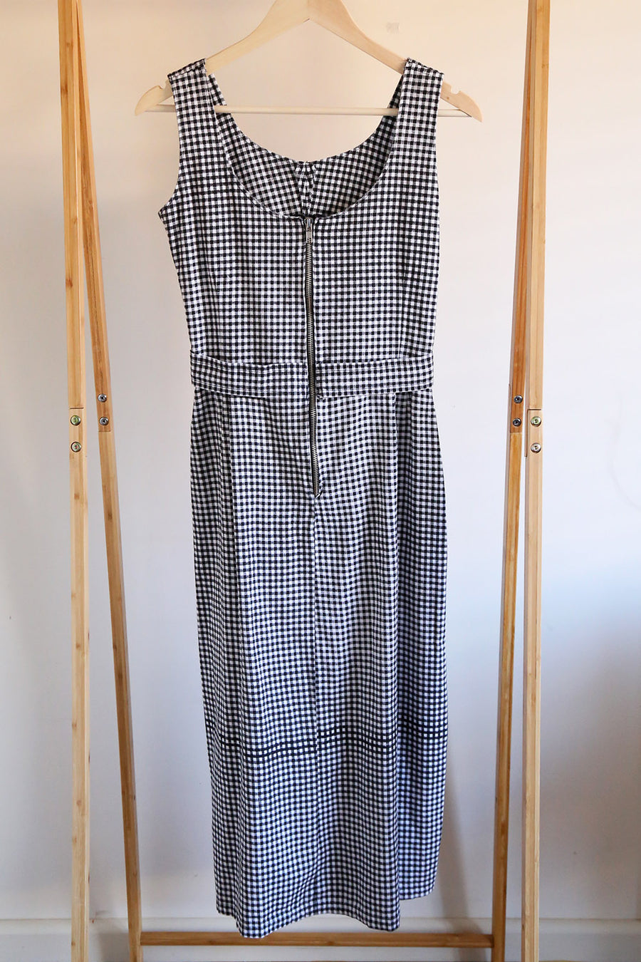 PRELOVED - Black and White Check Handmade Dress