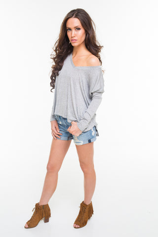 Loose Fit Long Sleeve Top
