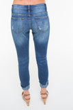 Distressed Ankle Frayed Denim