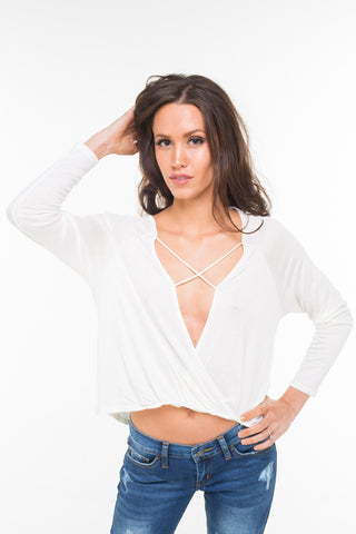 Criss Cross Open Front Top