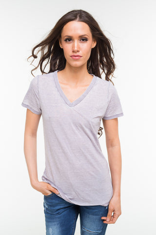 Loose Fit V-Neck Tee