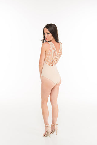 Backless Cross Back Bodysuit