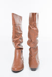 Paola Leather Tan Slouchy Boot
