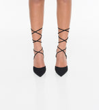 Lola Lace Up Pointed Toe Heel