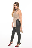 Sleeveless Roll Neck Sweater
