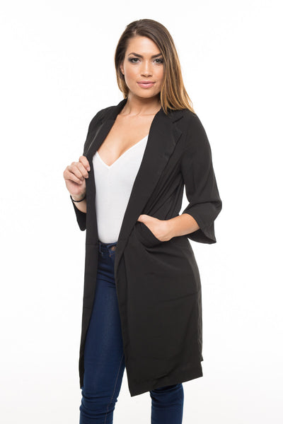 Longline Blazer in Black