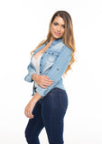 Denim Long Sleeve Top
