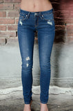 Distressed Low-Rise Skinny Jean