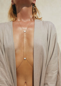 Center Point Bodychain - Goldish