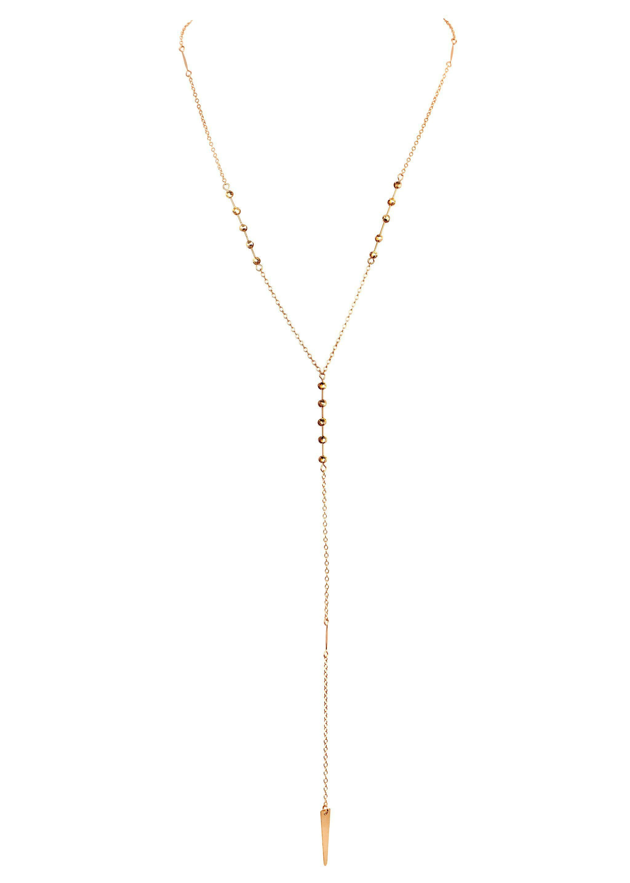 Crystal Simplicity Necklace - Goldish