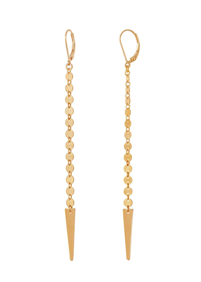 Disco Arrow Earring - Goldish