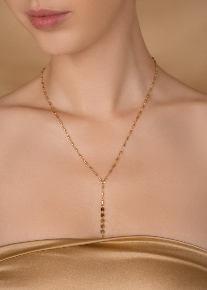 Disco Simplicity Hand Chain - Goldish
