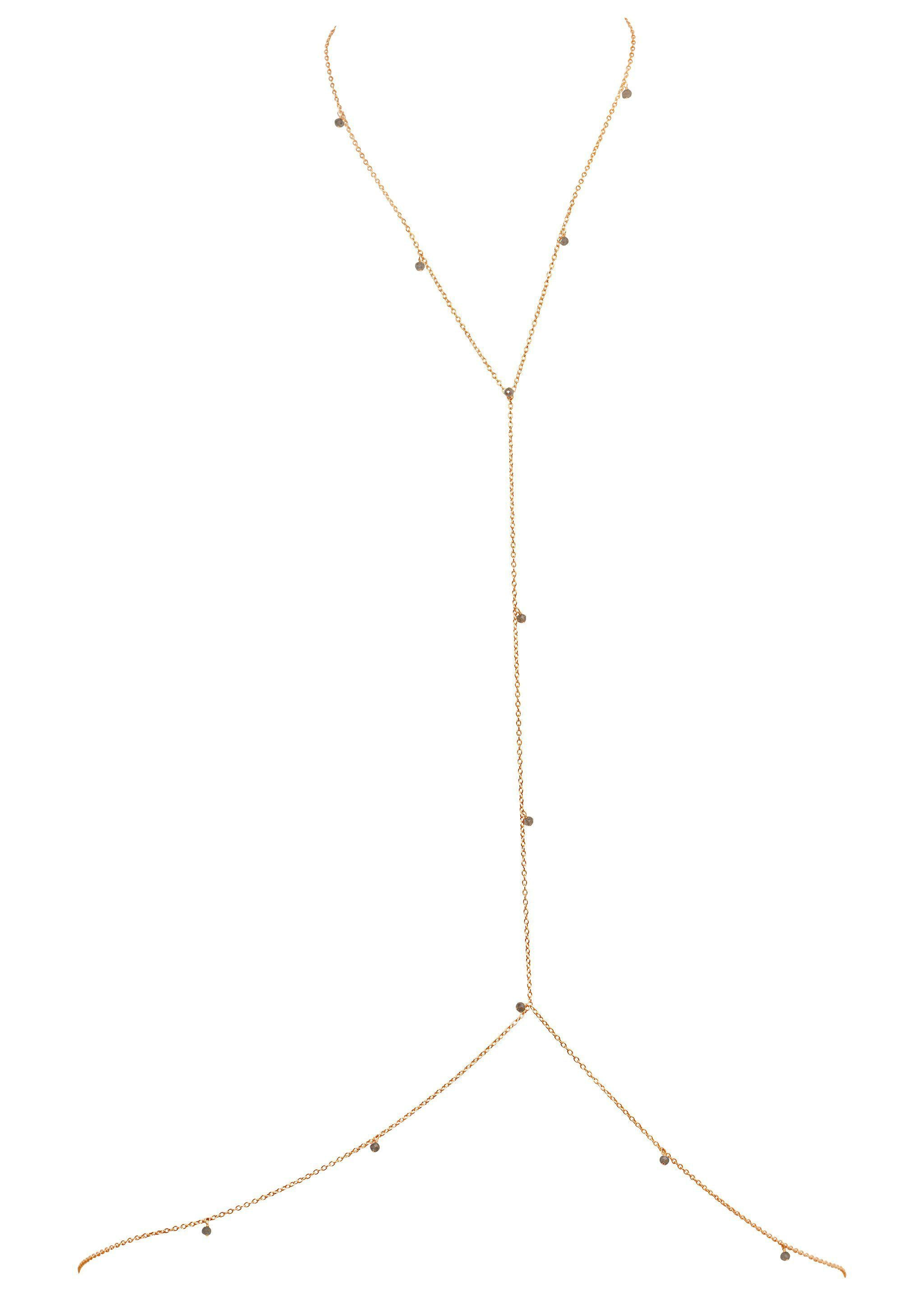 Gemstone Vine Bodychain - Goldish