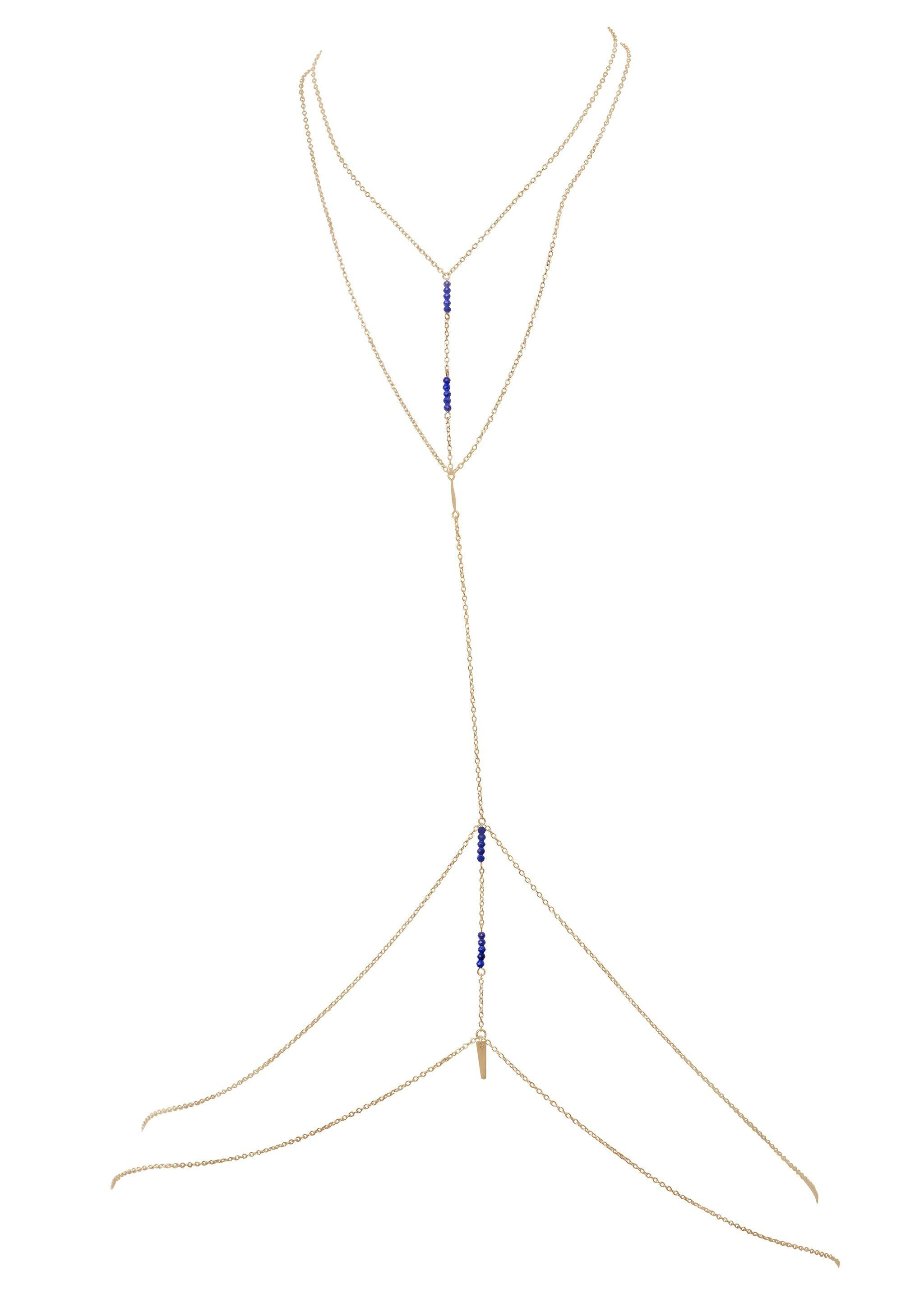 Gemstone Eagle Bodychain - Goldish