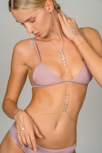 Moonstone Ladders To Bliss Bodychain - Goldish