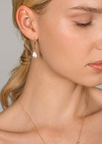 Moonstone Tear Drop - Goldish
