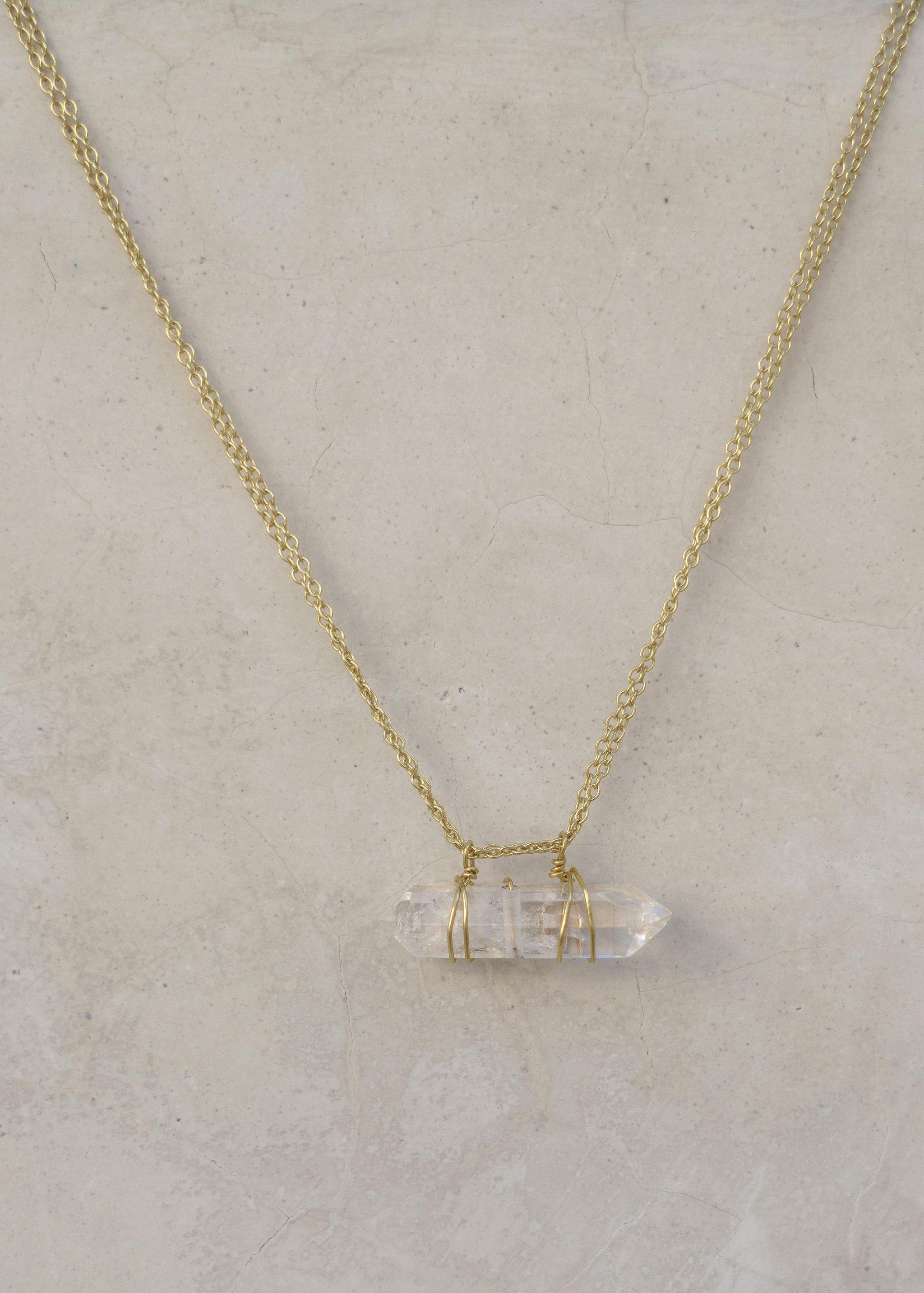 Tunnel of Light Necklace - Goldish