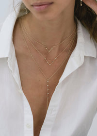 V Necklace - Goldish