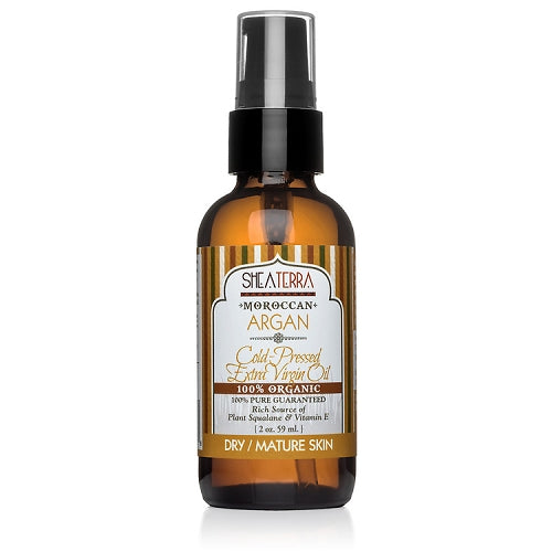 Shea Terra 100% Pure Moroccan Argan Oil (Cold Pressed and Certified Organic)