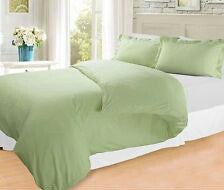 Apple Green Solid Fitted Sheet